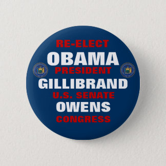 New York for Obama Gillibrand Owens Button
