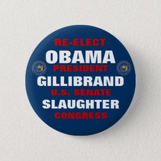 New York for Obama Gillibrand Slaughter Button