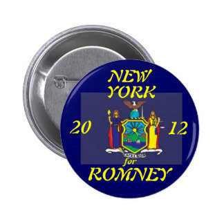 New York for Romney 2012 Button