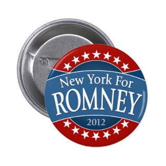 New York for Romney Button