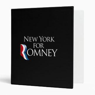 New York for Romney -.png 3 Ring Binder