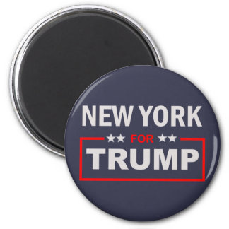 New York for Trump 2 Inch Round Magnet