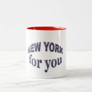 New York for You Two-Tone Coffee Mug