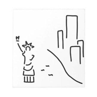 New York freedom statue empire wolkenkratzer Note Pad