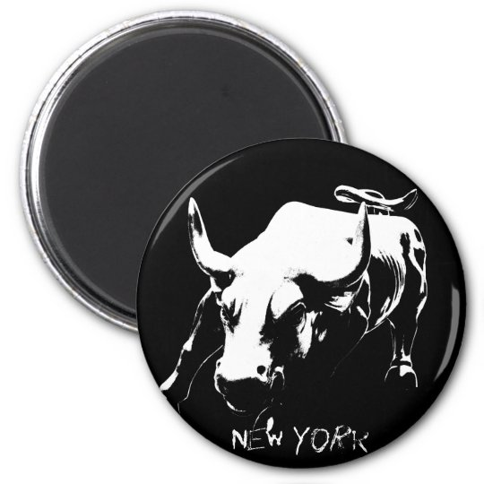 New York Fridge Magnets Bull Statue NYC Souvenirs