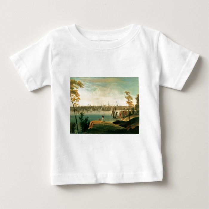 New York from Brooklyn Heights circa 1834 Baby T-Shirt
