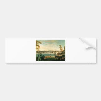 New York from Brooklyn Heights circa 1834 Bumper Sticker