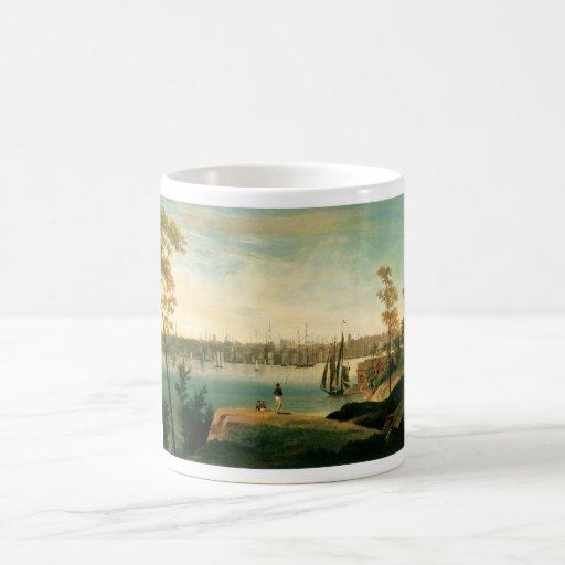 New York from Brooklyn Heights circa 1834 Classic White Coffee Mug