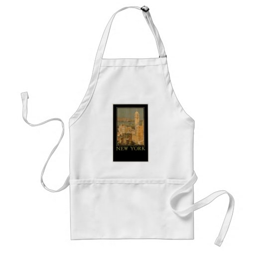 New York from Glasgow by the Anchor Line Adult Apron