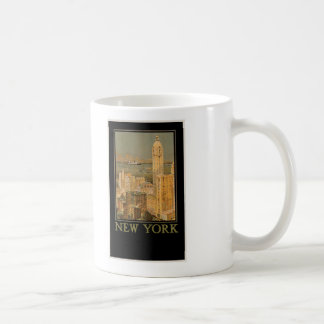 New York from Glasgow by the Anchor Line Classic White Coffee Mug