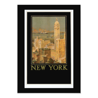 New York from Glasgow by the Anchor Line Invites