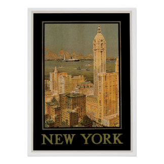 New York from Glasgow Poster