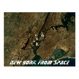 New York From Space Postcard