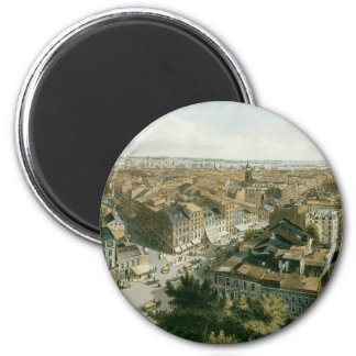 New York from the Steeple of Saint Paul's Church 2 Inch Round Magnet