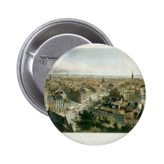 New York from the Steeple of Saint Paul's Church Button