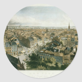 New York from the Steeple of Saint Paul's Church Classic Round Sticker