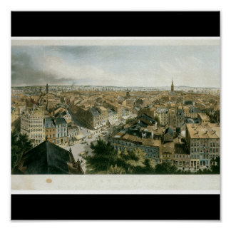New York from the Steeple of Saint Paul's Church Poster