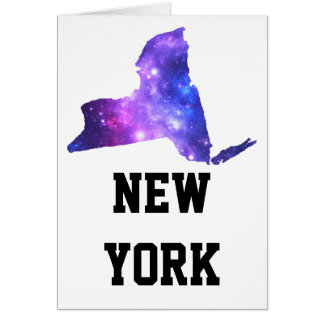 New York Galaxy Empire State Card