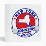 New York Gary Johnson 3 Ring Binder