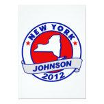 New York Gary Johnson Custom Announcement