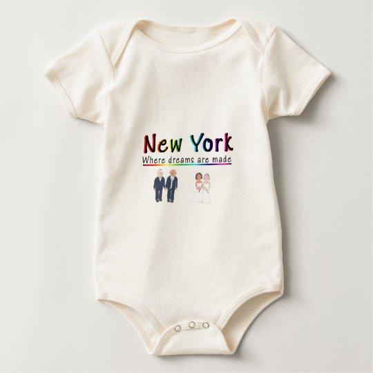 New York Gay Marriage Baby Bodysuit