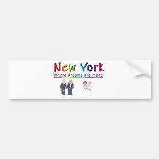 New York Gay Marriage Car Bumper Sticker