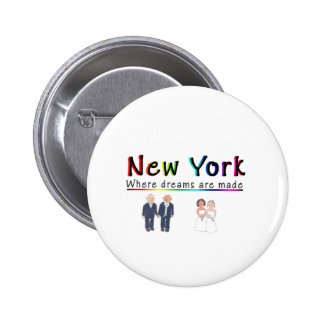 New York Gay Marriage Pinback Button