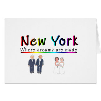 New York Gay Marriage Greeting Card