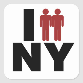 New York Gay Marriage Law Square Sticker
