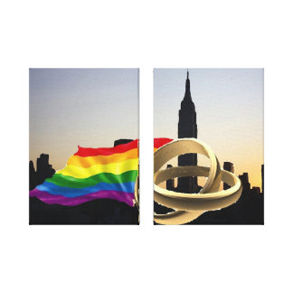 New York Gay Marriage on Canvas Stretched Canvas Print