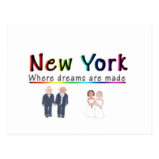 New York Gay Marriage Post Card