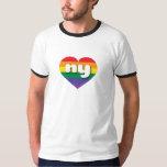 New York gay pride rainbow heart - mini love T Shirt