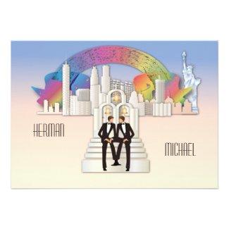 New York Gay Wedding Invitation