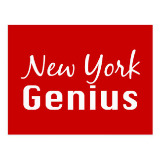 New York Genius Gifts Postcard