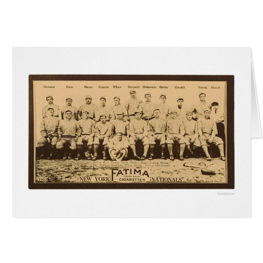 New York Giants Baseball 1913 Card