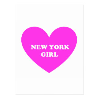 New York Girl Postcard