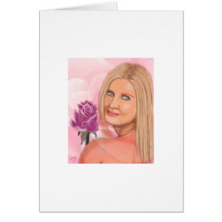 New York Girl with Rose Cards