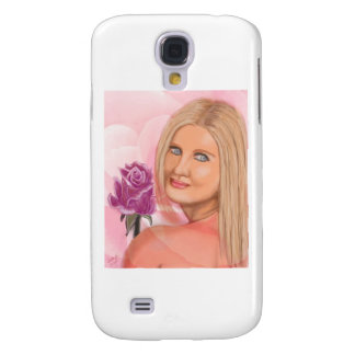 New York Girl with Rose Galaxy S4 Case