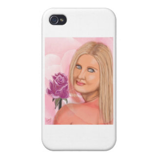 New York Girl with Rose iPhone 4/4S Covers