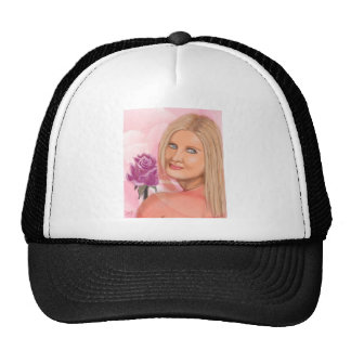 New York Girl with Rose Trucker Hat