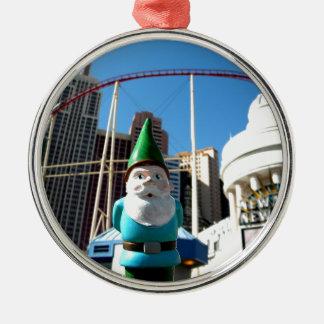 New York Gnome Metal Ornament