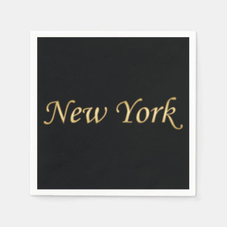 New York Gold - On Black Napkin