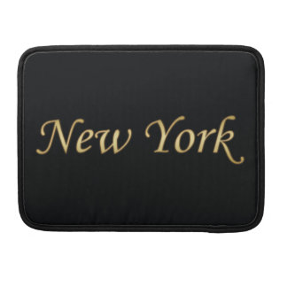 New York Gold - On Black Sleeves For MacBook Pro