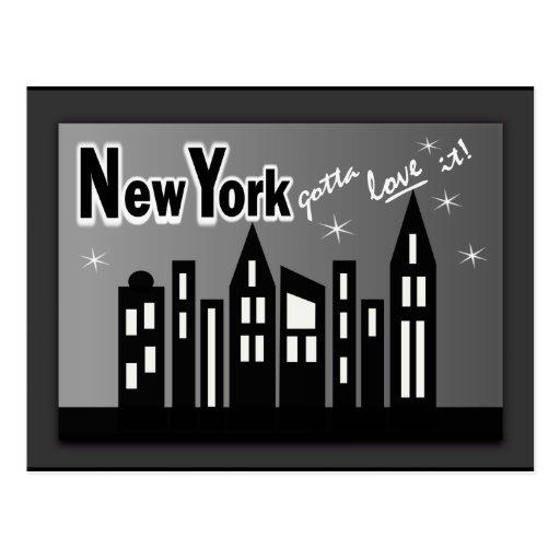 New York--Gotta Love It! With Cute Buildings Postcard