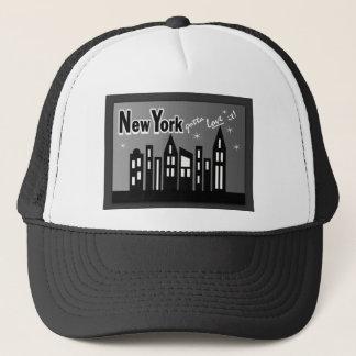 New York--Gotta Love It! With Cute Buildings Trucker Hat