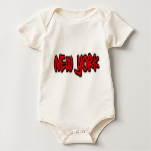 New York Graffiti Baby Bodysuit