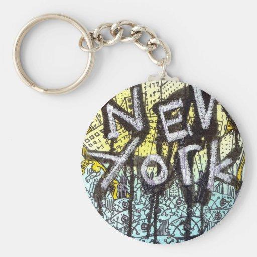 New York Graffiti Scene Key Chains