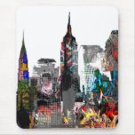 New York graffiti skyline Mousepad