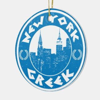 New York Greek American Ceramic Ornament