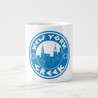 New York Greek American Large Coffee Mug
